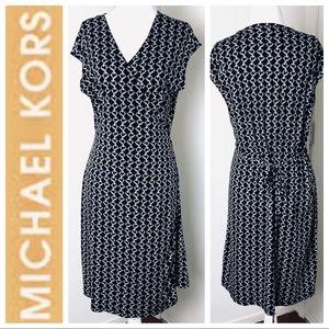 NEW MICHAEL KORS Chain Print Sleeveless WRAP DRESS
